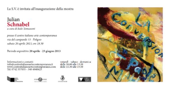 Julian Schnabel, personale al Centro Italiano Arte Contemporanea di Foligno