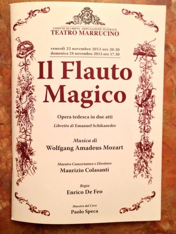 Il Flauto magico, rappresentazione al Teatro Marruccino di Chieti - recensione di Marius Creati