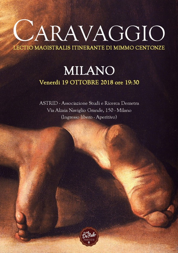 Caravaggio, Lectio Magistralis itinerante di Mimmo Centonze